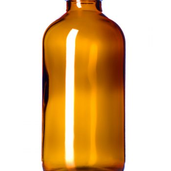 Amber Glass Bottle - 8 oz (28-400)