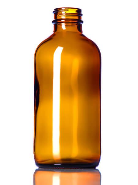 Amber Glass Bottle – 8 oz (28-400)