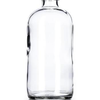 Clear Glass Boston Round Bottle - 8 oz