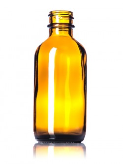 Amber Glass Bottle - 2 oz