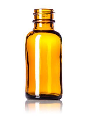 Amber Glass Bottle - 1 oz
