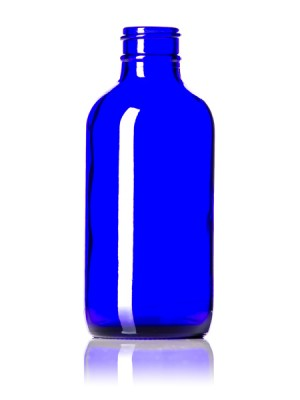 Cobalt Blue Glass Bottle - 4 oz / 118 ml
