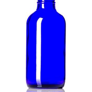 Cobalt Blue Glass Bottle - 4 oz / 118 ml