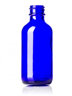 Cobalt Blue Glass Bottle - 2 oz / 60 ml