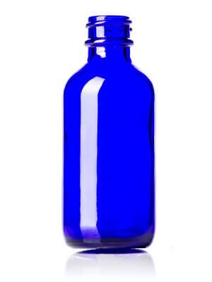 Cobalt Blue Glass Bottle - 2 oz / 60 ml