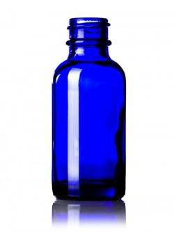 Cobalt Blue Glass Bottle - 1 oz / 30 ml