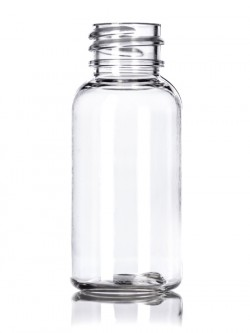 Clear Boston PET Bottle - 1 oz/30 ml
