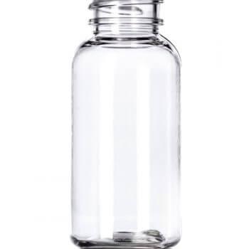 Clear Boston PET Bottle - 1 oz/30 ml