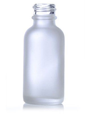 Frosted Glass Bottle - 1 oz