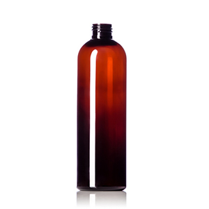 Amber PET Cosmo Round Bottles