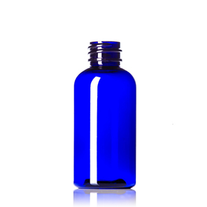 Cobalt Blue PET Boston Round Bottles