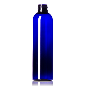 Cobalt Blue PET Cosmo Round Bottles