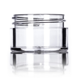 1:2 oz clear PS thick wall jar with 43-400 neck finish J007