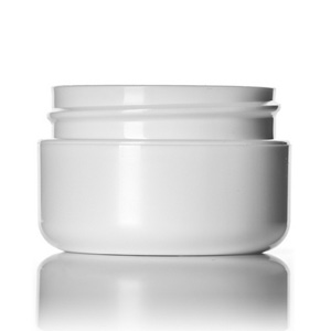 1:2 oz white PP:PS double wall round base jar with 48-400 neck finish