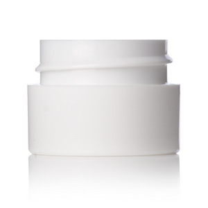 1:4 oz white PP double wall straight base jar with 33-400 neck finish