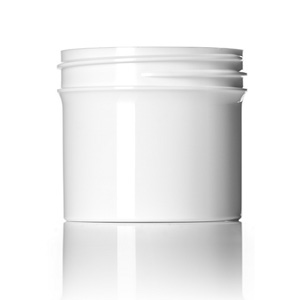 2 oz white PP single wall jar with 53-400 neck finish