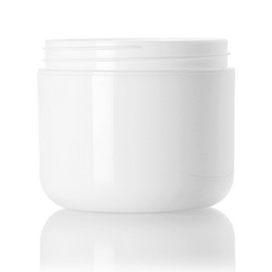 4 oz white PP double wall round base jar with 70-400 neck finish