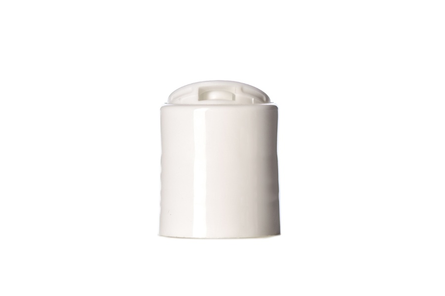 White Smooth Disc Top Lid 20-410